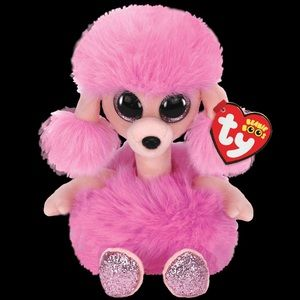 """🆕 TY Beanie Boo's """"Camilla"""" PINK POODLE"""